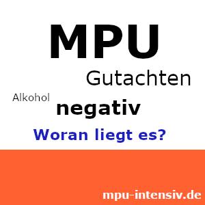 Bild Negatives Gutachten Alkohol