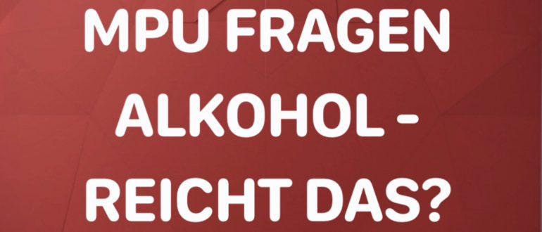 Bild: MPU Fragen Alkohol - reicht das?